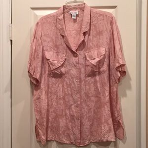 Stunt 100% silk woven patterned blouse